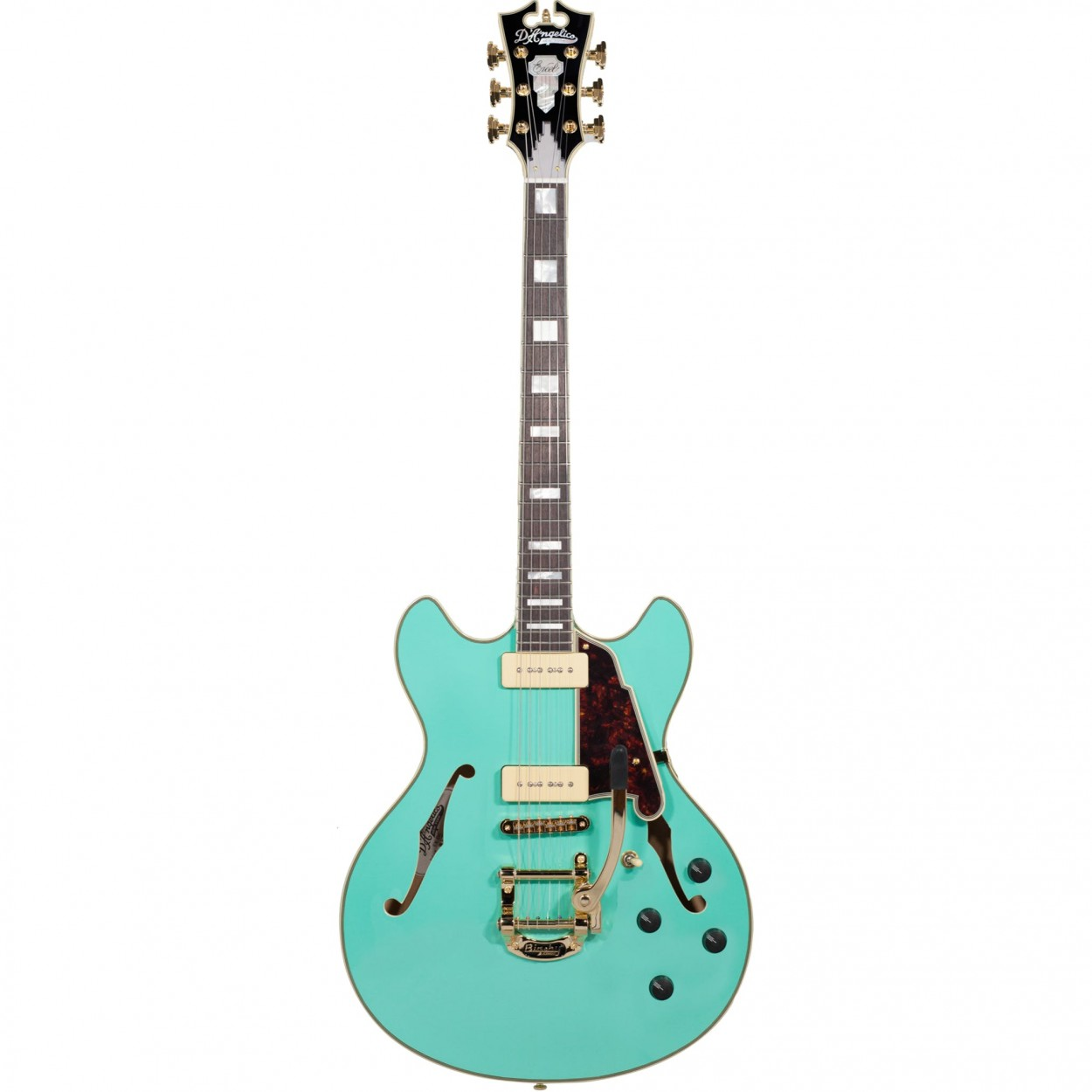 D'Angelico Excel DC Shoreline Bigsby in Surf Green
