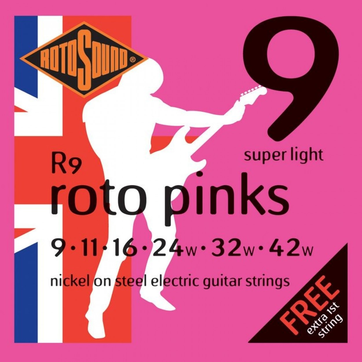 Rotosound Guitar Strings Pinks 9-42