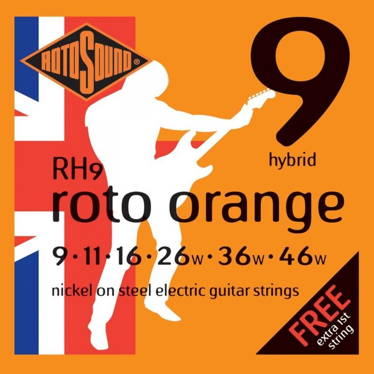 Rotosound Guitar Strings Orange 9-46