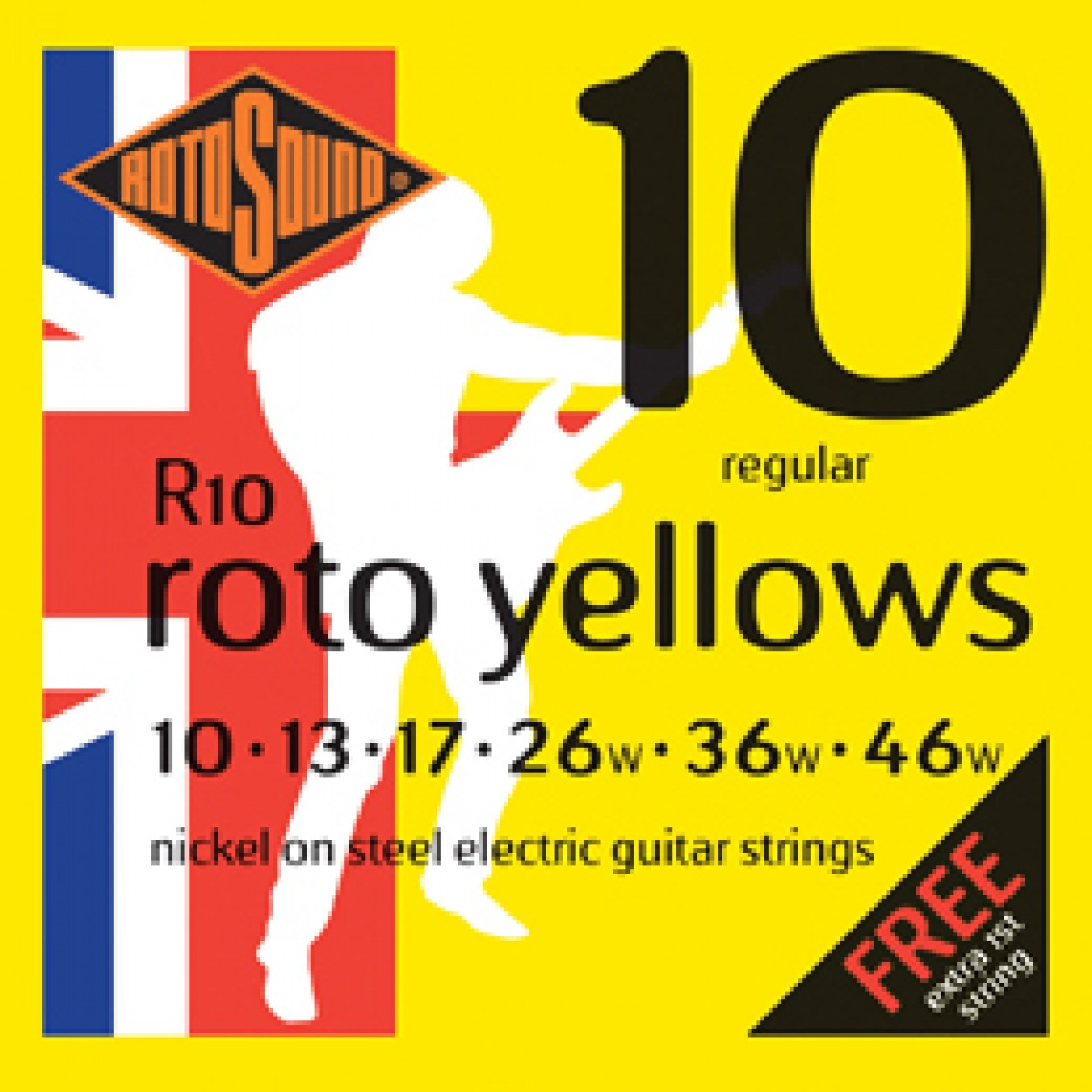 Rotosound Guitar Strings Yellows 10-46
