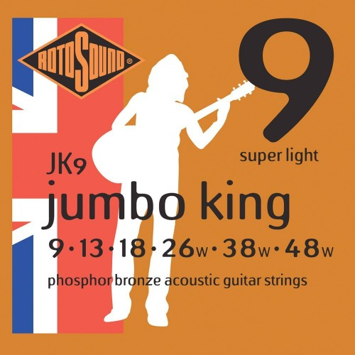 Rotosound Jumbo King Phosphor Bronze 9's
