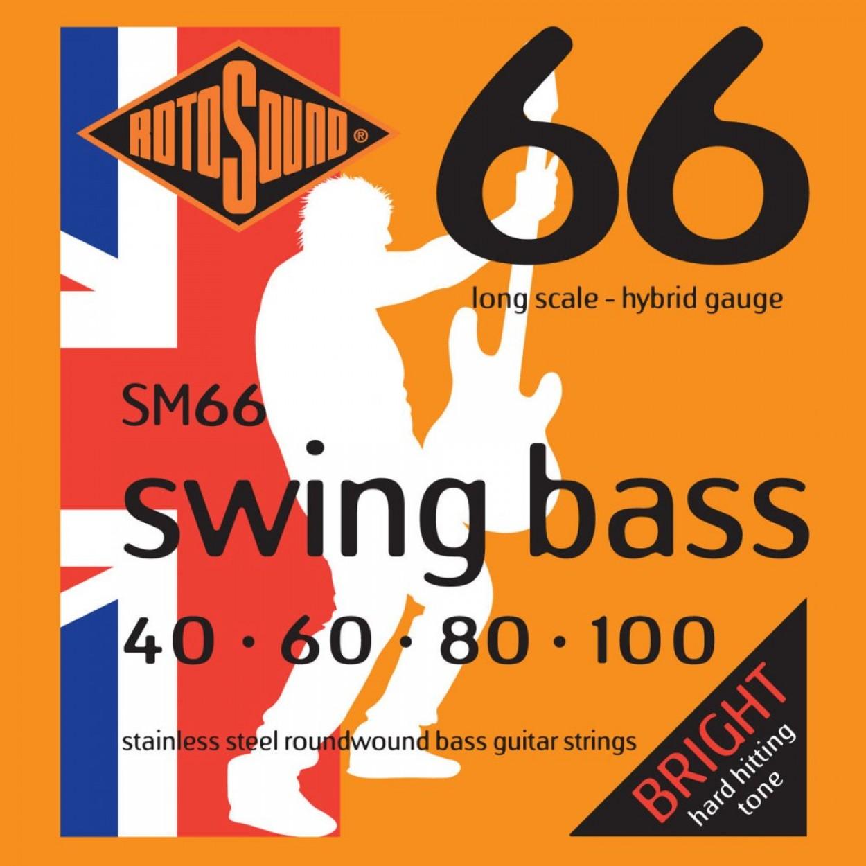 RotoSound 66 Swing Bass Strings 40-100